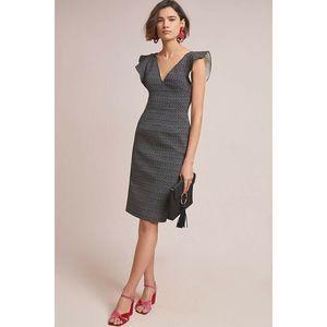 New ML Monique Lhuillier Polka Dot Sheath Dress